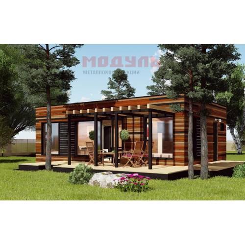 дачный дом размером 9х7х4 м