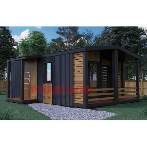 дачный дом размером 7х6х3 м