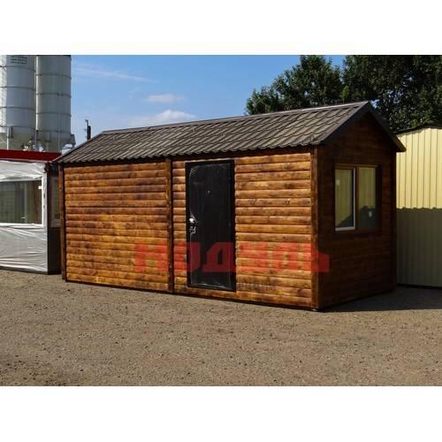 дачный домик размером 6х2.5х3 м