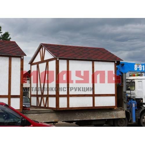 дачный домик в альпийском стиле размером 3х2.5х3 м