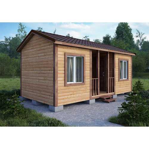 дачный дом размером 7х3х3 м
