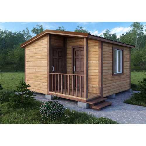 дачный дом размером 5х5х3 м с хозблоком