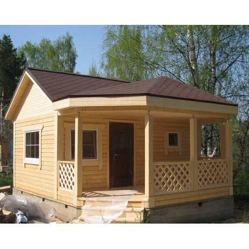 дачный дом размером 5х6х4м с верандой
