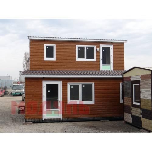 дачный дом из 2-х комнат размером 7х3х3 м