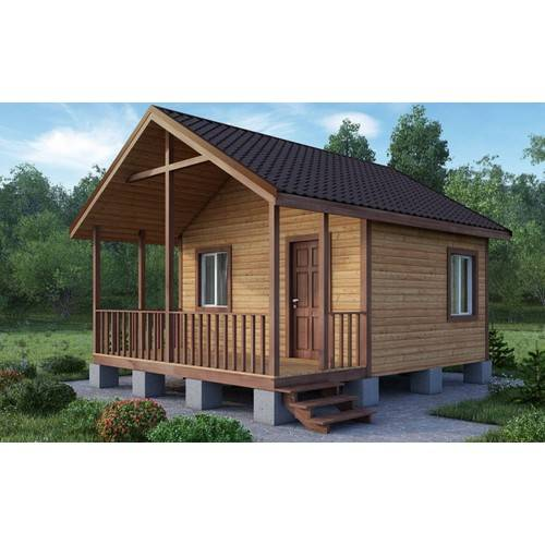 Дачный домик размером 6х5х4 м с верандой
