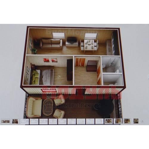 Вариант планировки дачного домика размером 5х6 м