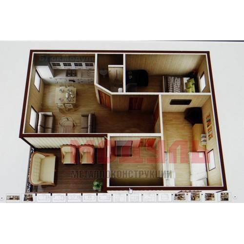 Планировка дачного домика размером 7х6 м