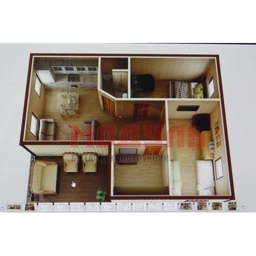 Планировка дачного домика размером 7х6 м с верандой