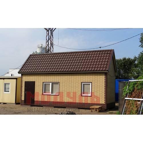 Дачный домик размером 8х3х4 м с сан узлом