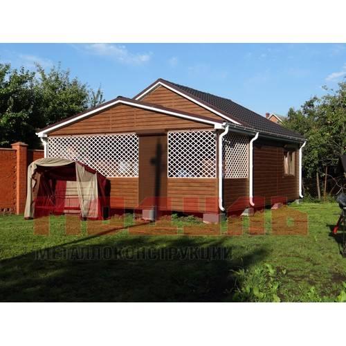 Дачный домик размером 7х6 м с верандой