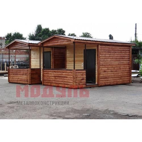 Курортный домик размером 5х3х3 м с верандой