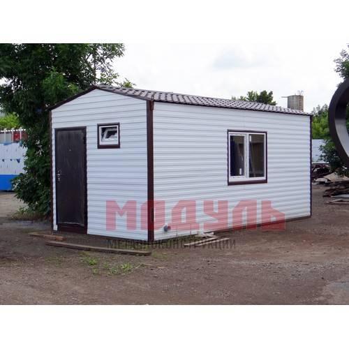 Дачный домик размером 6х3х3 м с санузлом