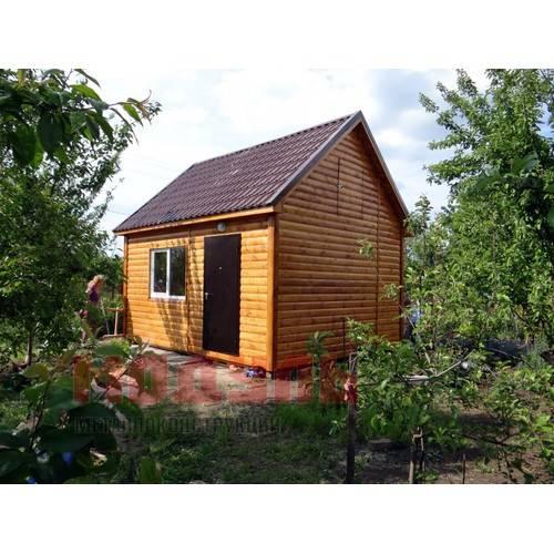 Дачный домик размером 6х4х4 м с санузлом