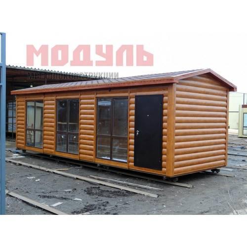Дачный домик размером 9х3х3 м