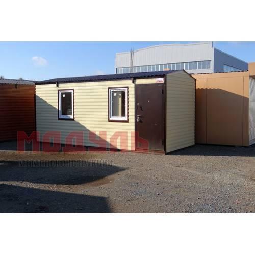 Дачный домик размером 6х2,5х2,7м состоит из 2-х комнат, отделка хвойная вагонка