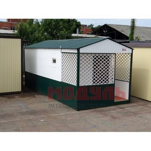 Дачный домик размером 7х3х3 м веранда комната и кухня