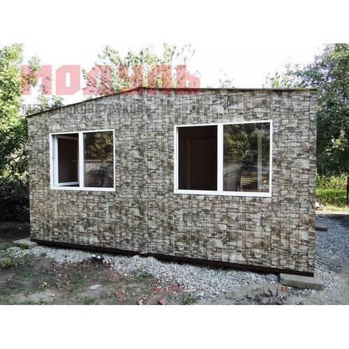 Дачный домик размером 5х6х3 м две комнаты кухня и санузел