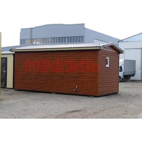 Дачный домик размером 6х3х3 м с наружной отделкой из сайдинга