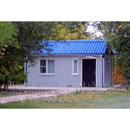 Дачный домик размером 6х3х3 м прихожая и комната