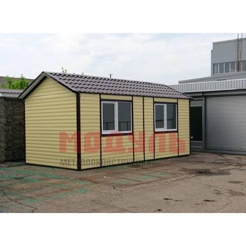 Дачный домик размером 6х3х3 м состоит из 2-х комнат