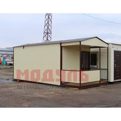 Дачный домик с верандой размером 6х3х3 м