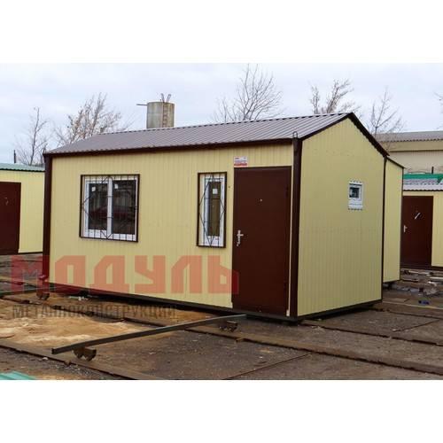 Дачный домик размером 6х3х3 м прихожая, санузел и комната