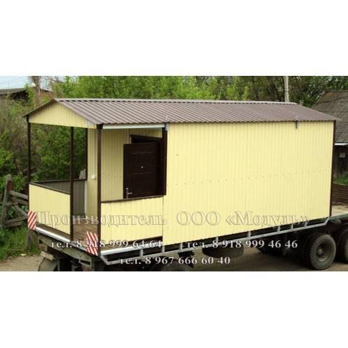 Дачный домик размером 7х3х3 м веранда, комната и санузел