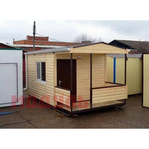 Дачный домик размером 5х3х3 м с верандой, утепленный