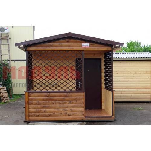 Дачный домик с верандой размером 6х3х3 м утепленный