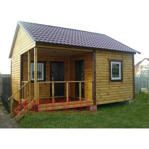 Дачный домик размером 7х6х5 м