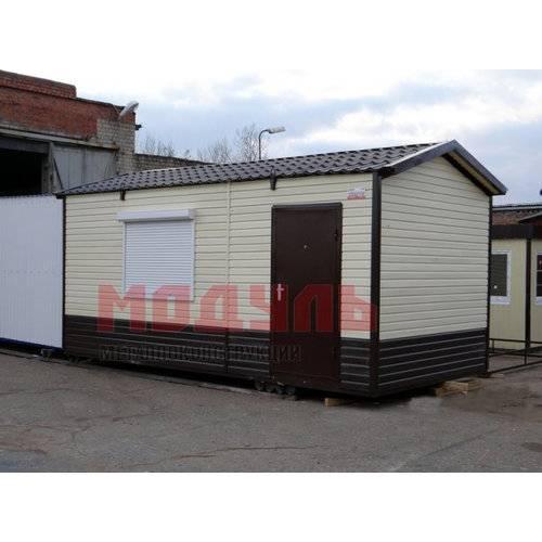 Дачный домик размером 6х3х3 м отделка снаружи сайдингом, прихожая, комната и санузел