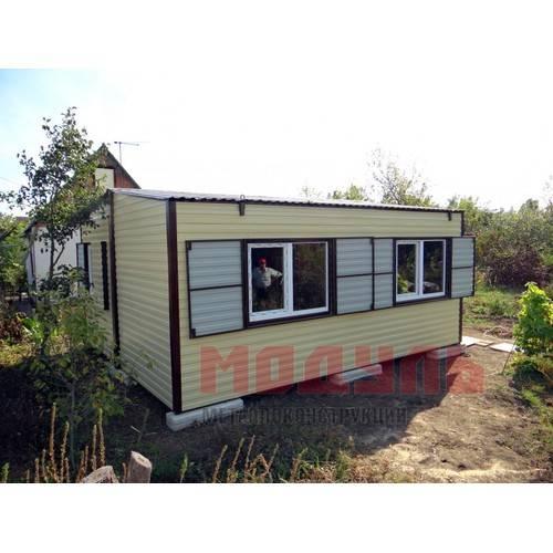 Дачный домик размером 5х6х3м две комнаты, кухня, санузел