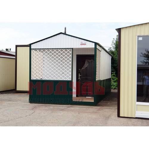 Дачный домик размером 7х3х3 м с верандой