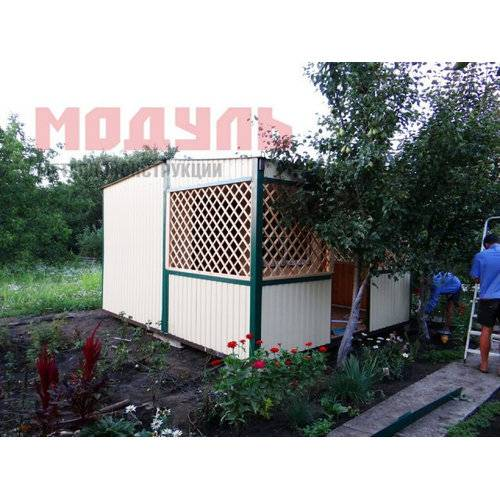 Дачный домик размером 4х5х3 м с верандой