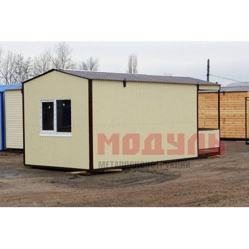 Дачный домик с верандой размером 7х3х3 м