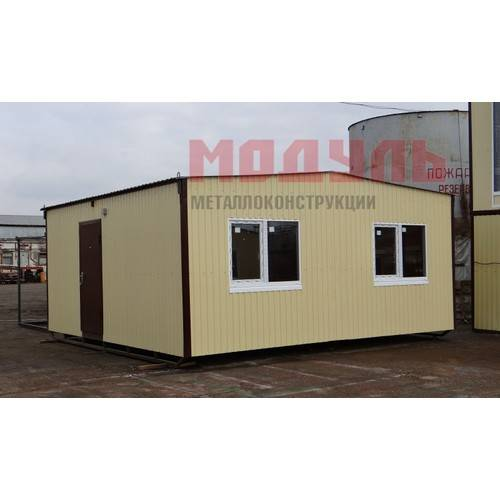 Дачный домик размером 6х7х3 м, две комнаты, кухня, прихожая и санузел