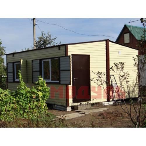 Дачный домик размером 5х6х3 м две комнаты, прихожая, кухня, санузел