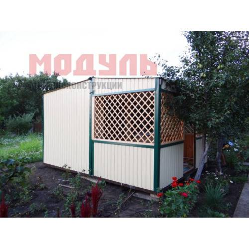 Дачный домик размером 6х3х3 м прихожая, санузел, комната