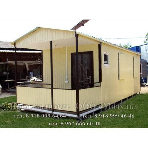 Дачный домик размером 7х3х3 м веранда, кухня и комната