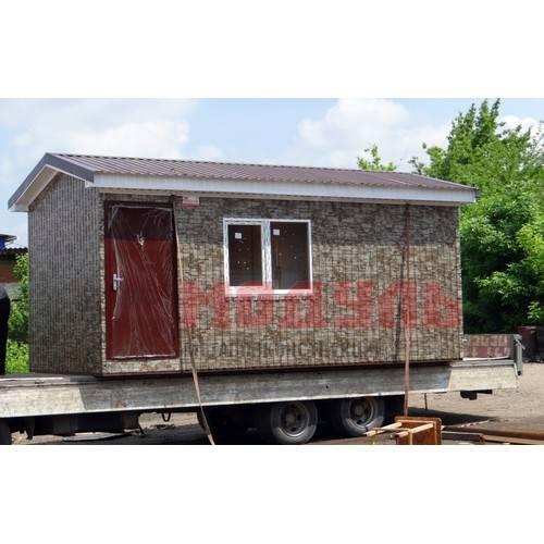 Дачный домик размером 6х3,5х3 м, комната и санузел