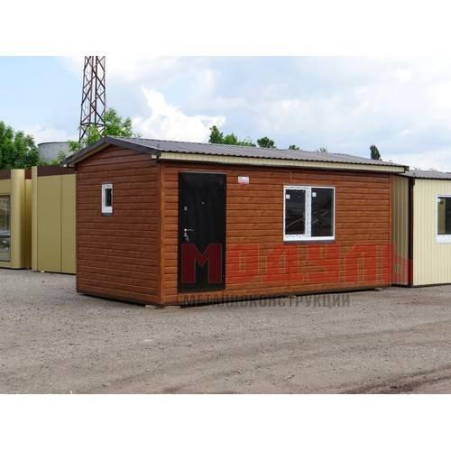 Дачный домик размером 6х3х3 м отделка снаружи металлический сайдинг, внутри хвойная вагонка