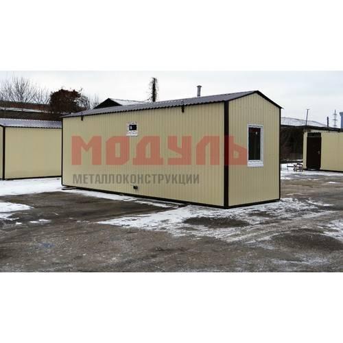 Дачный домик с санузлом размером 8х2,5х3 м