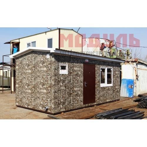 дачный домик размером 6х3х3 м оборудованный санузлом и встроенной кухней
