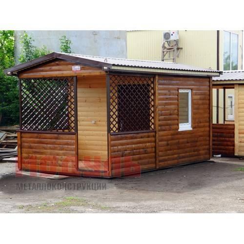 Дачный домик размером 5х3х3 м с верандой