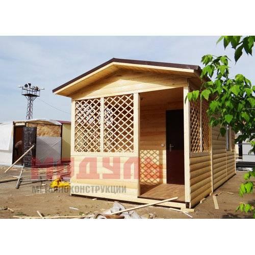 Дачный домик размером 7х3х3 м, веранда, комната и санузел