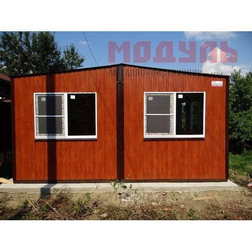Дачный домик размером 6х5х3 м, две комнаты, кухня, прихожая и санузел