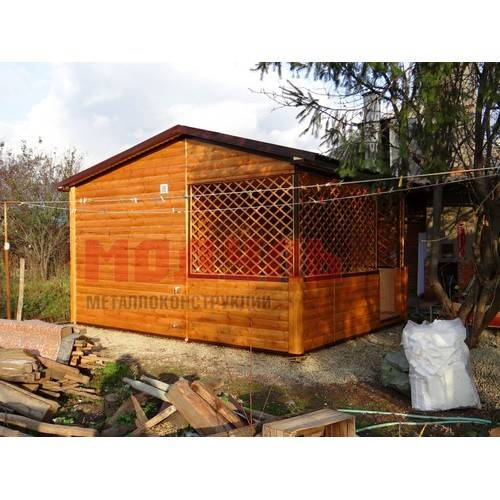 Дачный домик размером 5х5х3,5 м