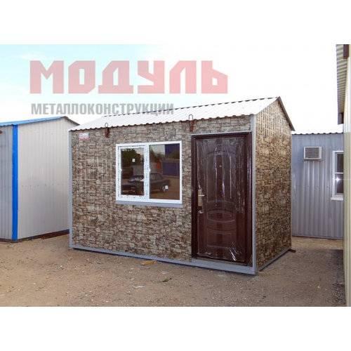 Дачный домик размером 4х2,5х3 м утепленный