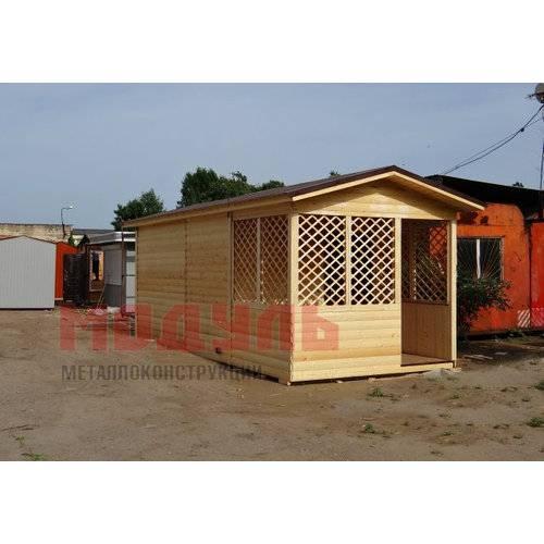Дачный домик утепленный размером 6х3х3 м с верандой