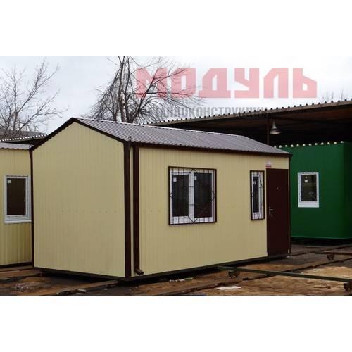 Дачный домик размером 7х3х3 м, прихожая, санузел и комната
